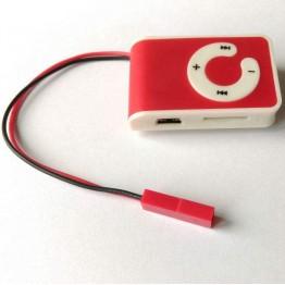 MP3 плейър с магнитни микрослушалки за преписване