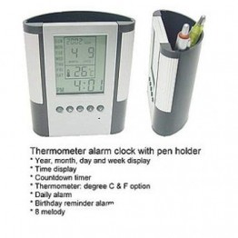 Моливник с календар и термометър